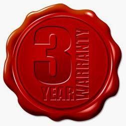 3 Year Workmanship Warranty